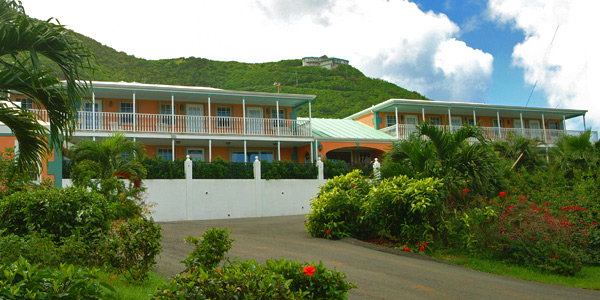 The exterior of the Arawak Bay Inn in Salt River St Croix Virgin Island