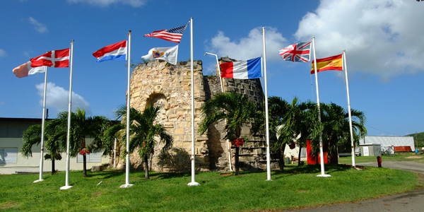 The Entrance to the Cruzan Rum Distillery on St Croix, USVI